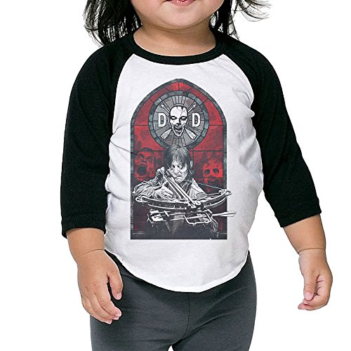 JXMD Kids Boy's & Girl's Licensed Dixon Stained Glass T Shirts Black Size 2 Toddler (Ninja Garden Ps3 compare prices)