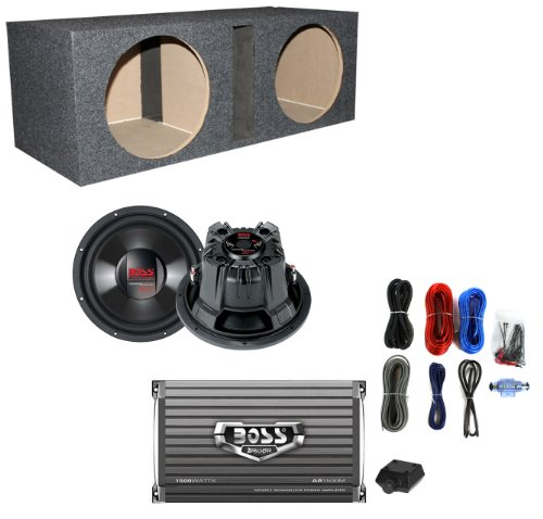 "Boss Cx104Dvc 10"" 2400W Car Subwoofers Subs+Dual Vented Box+Amplifier+Amp Kit"