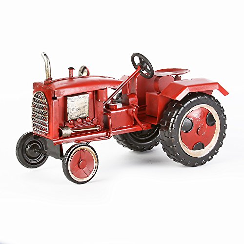 Red Tractor Blechmodell Hand-Made unique item dimensions: approximately 18 x 11 x 11 CM