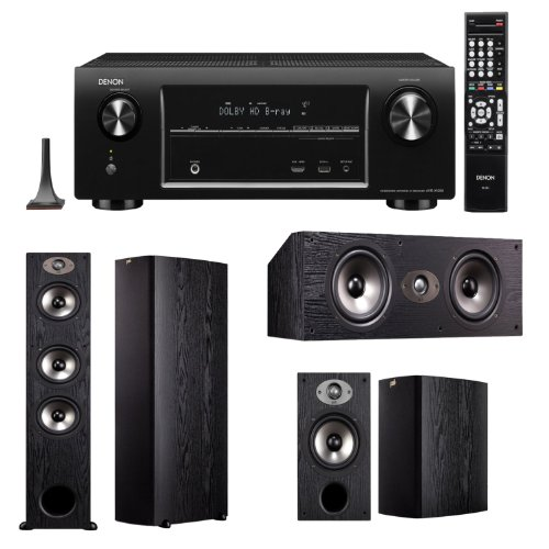 Polk Audio Tsx 4405.0 Bundle-Denon Avr-X4000 7.2 Channel 4K Ultra Hd Networking Home Theater Receiver