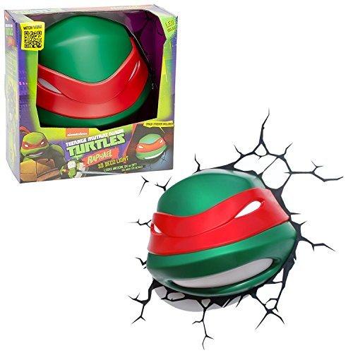 3DLightFX Teenage Mutant Ninja Turtles Series 3D Deco Night Light - RAPHAEL HEAD by Teenage Mutant Ninja Turtles