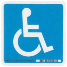 "Brady White On Blue Color Handicapped Sign, Legend ""Handicapped/Picto Only"""
