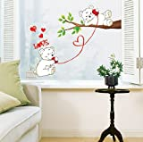 Jiniy LOVE BEARS WALL ART DECOR Mural Decal STICKER(JSWST033)