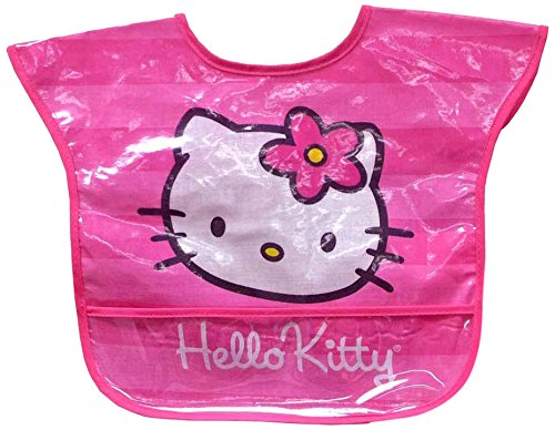 Hello Kitty Easy Wipe Toddler Bibs, Pink, 2-Count - 1