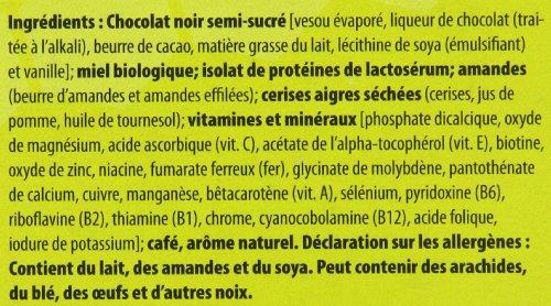 Honey Stinger Dark Chocolate Caffeinated Mocha Cherry 10g Protein Bar ...