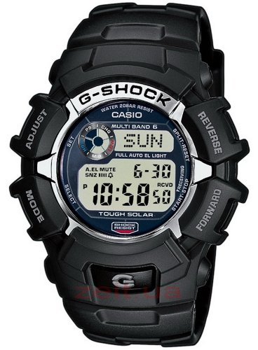 G-Shock Men's Quartz Watch with Grey Dial Digital Display and Black Resin Strap GW-2310-1ER