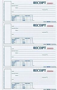 Rediform Money Receipt Book, Hardbound, Carbonless,  2 x 6.875 Inches, 4 Per Page, 200 Triplicates (S1657NCL)