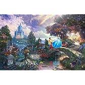 ディズニー映画「シンデレラ」 公式アーティスト(トーマスキンケード)による西洋絵画キャンパスプリント