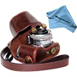 "MegaGear ""Ever Ready"" Protective Dark Brown Leather Camera Case , Bag for Sony NEX-5T 16-50mm Lens"