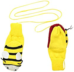 Kidorable Little Girls' Bee Mittens, Yellow, Large