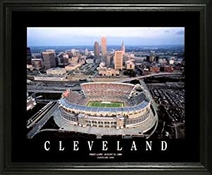 Cleveland Browns - Browns Stadium Aerial - Lg - Framed Poster Print by Laminated Visuals