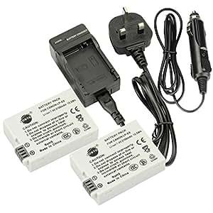 DSTE LP-E8 Batterie Li-ion Rechargeable DC99U Chargeur pour Canon EOS 550D, EOS 600D, EOS Rebel T2i, EOS Rebel T3i appareil photo numérique