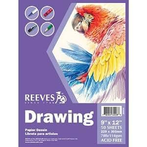 Bulk Buy Reeves Drawing Paper Pad 9 X12 50