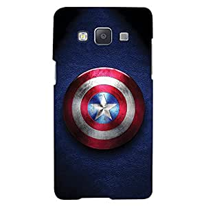 ColourCrust Samsung Galaxy E5 Mobile Phone Back Cover With Captain America - Durable Matte Finish Hard Plastic Slim Case