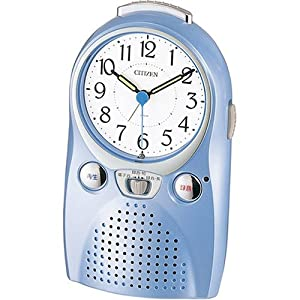 CITIZEN (シチズン) 目覚し時計 伝言ルージュW 音声録音 4SE521-004