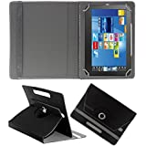 """Acm Rotating 360° Leather Flip Case For Fujezone Smart 7"""" Tab Tablet Cover Stand Black"""
