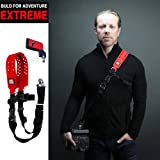 Carry Speed Xtreme Extreme, DSLR Camera Weatherproof Rubberized Sling Shoulder Neck Strap /RED Color + F-2 foldable mounting plate