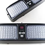 Aurnoc New Commercial Truck Boat Car 86-LED Strobe Lights Car Flash Emergency Waring Light 12 Flash Modes Available in Blue / Amber / White / Red / Red& Blue (Red- Blue)