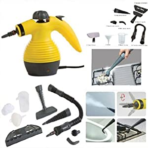 Multi-Purpose Pressurized Steam Cleaning and Sanitizing System with Attachments - Great Handheld Steam Cleaner For Bed Bug Treatment - Degreasing, Clothing, Fabric, Garments, Indoors, Outdoor, Kitchen, Bathroom, Shower, Closet, Patio, Glass Cleaner, Garag