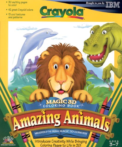 Magic 3D Coloring Book Amazing Animals Ages 3-7