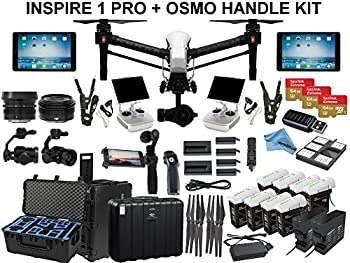 "DJI Inspire 1 PRO With eDig ""Fly All Day"" Bundle. Includes 8 TB48 Batteries, 2 Charging Hubs, 180W Charger, 2 iPad Airs, Osmo Handle Kit, Go Professional Case, 3x 64GB Cards and more..."