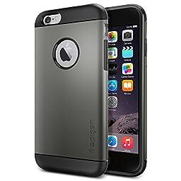 iPhone 6 Case, Spigen® [Slim Armor] AIR CUSHION [Gunmetal] Slim Fit Dual Layer Protective Case Advanced Shock Absorption Protection for iPhone 6 (2014) - Gunmetal (SGP10959)
