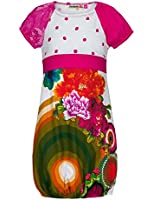 Desigual Bentué - Robe - Imprimé - Manches courtes - Fille