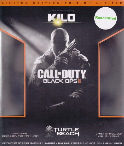 Turtle Beach Call Of Duty Black Ops Ii Ear Force Kilo Universal Wired Amplified Stereo Gaming Headset