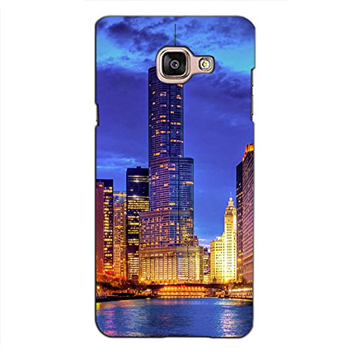 PrintVisa Designer Back Case Cover For Samsung Galaxy On Max (Skyscrapers Glowing With Light)