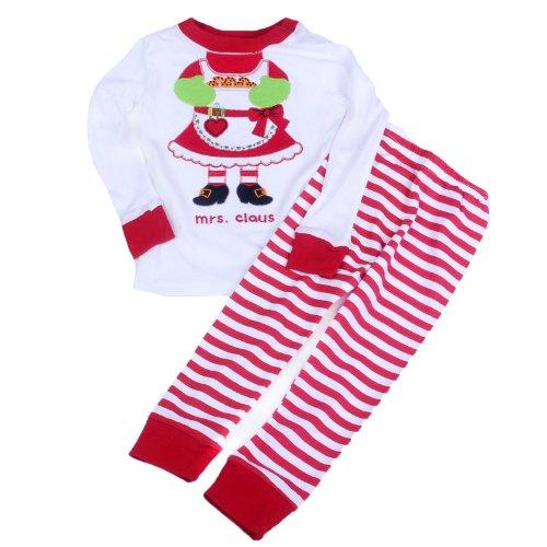 Toddler Kid Boys Girls Christmas Pajama T Shirt+Long Pants Ysqa7061 Size T4