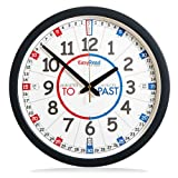EasyRead Time Teacher Children's Wall Clock with simple 3-Step Teaching System, for home & school classroom, 14