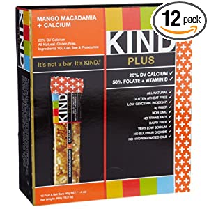 Amazon - 12-pack Kind Mango Macadamia + Calcium Bar - $9.54