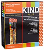 KIND PLUS, Mango Macadamia + Calcium, Gluten Free Bars (Pack of 12)