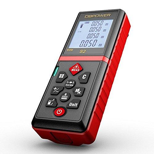 DBPOWER-002-60M-015mm-Laser-Entfernungsmesser-Praktischer-Laserdistanzmesser-Lasermessgerte-mit-Stummschaltefunktion-und-entfernbarem-Clip-Rot