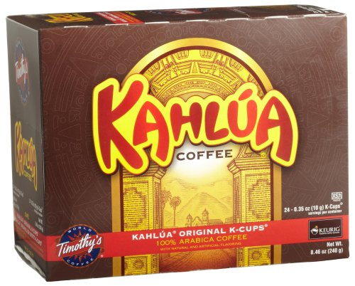 Timothy's World Coffee, Kahlua Original, 24-Count K-Cups for Keurig Brewers (Pack of 2)