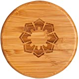 Totally Bamboo Eco-Friendly Salt Box, Floral, 3-1/2 by 3-1/2 by 2-3/4 Inches