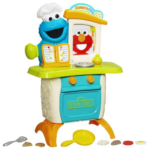 Playskool Sesame Street Come 'N Play Cookie Monster Kitchen Café Playset front-996709