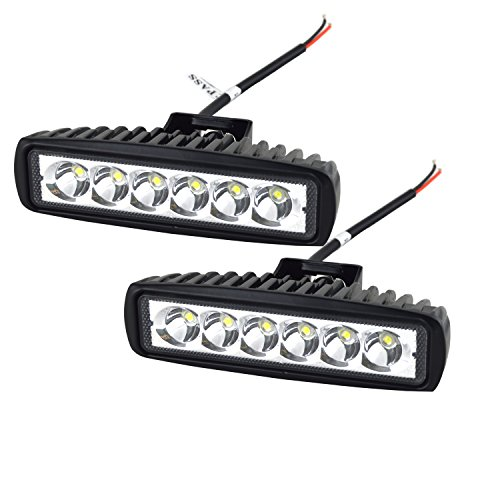 Willpower 2Pcs 18W Headlight Work Light Lamp off Road High Power ATV Jeep 4x4 Tractor off Road Light Fog Driving Bar Rree Truck SUV Car IP67 Waterproof Dustproof Shockproof 12V-24V (Low Profile Off Road Led compare prices)