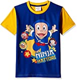 Ninja Hattori Boys' T-Shirt (HST-2134_Blue_7 - 8 years)
