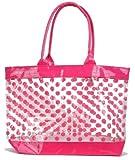 Clear Tote Bag / Beach Bag with Polka Dots