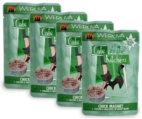 Weruva Cats in the Kitchen PouchChick Magnet 4Pack