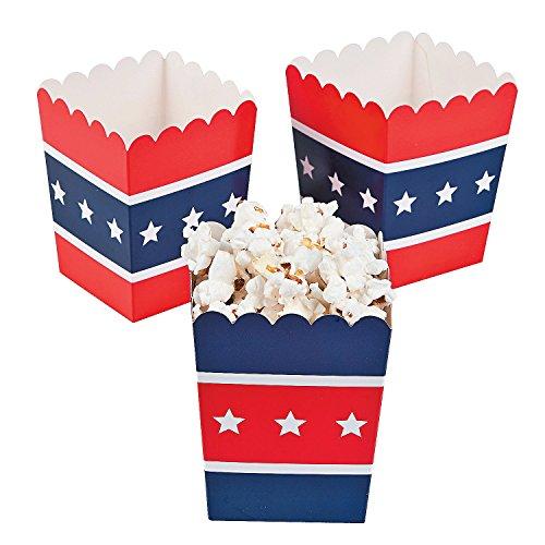 Patriotic Popcorn Boxes (24 Pack) (Popcorn Red White compare prices)