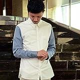 モルガンオム(MORGAN HOMME) バイカラーシャツ【ホワイト 03/M】
