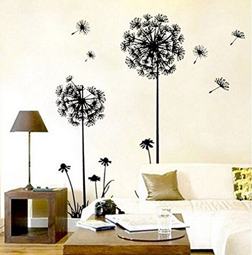 EJY 70*50cm Creative Decor Dandelion Flower Removable Bed Room Art Mural Wall Sticker Decal Home Decor