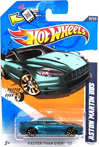 Hot Wheels Turquoise Aston Martin Dbs 9 of 10 Faster Than Ever 2012 99/247