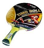 Butterfly Unisex Timo Boll Platinum Plus Table Tennis Bat - Black/Gold, 26 cm