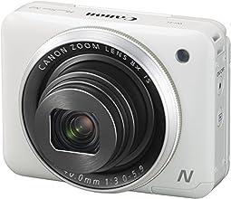 """Canon Powershot N2 Appareil photo numérique Compact 16,1 Mpix Ecran LCD 2,8"""" Zoom optique 8x - Blanc"""