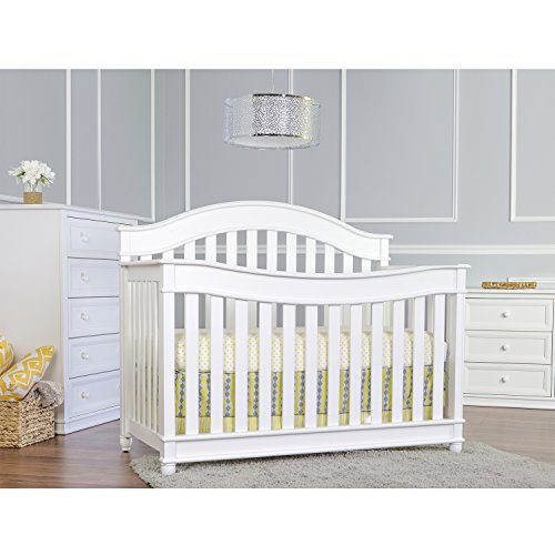 Dream On Me Mia Moda Parkland 5-in-1 Lifestyle Convertible Crib, White