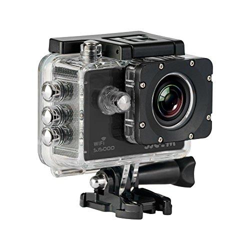 SJCam SJ-5000-WIFI - Videocámara deportiva (LCD 2.0'', 1080p 30 fps, sumergible hasta 30m) color negro
