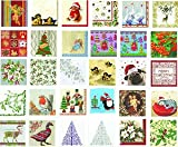 IHR Christmas Traditional English Xmas Paper Table Napkins - Mistletoe White